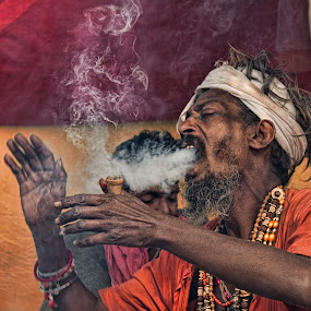 Making of Rising Smoke Elephant.. by Arpit Saha - People Portraits of Men