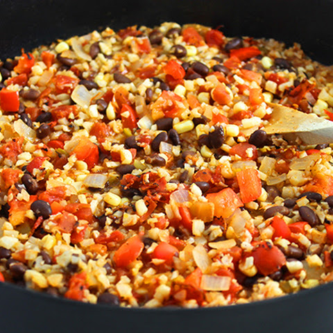 Healthy Mexican Cauliflower Rice and Beans
