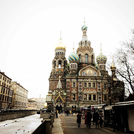 Church of our Savior on the Spilled Blood. St Petersburg, Russia. by Anita Louise - Buildings & Architecture Places of Worship