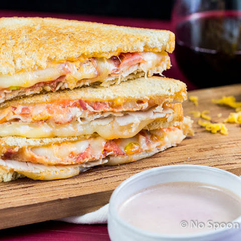"Wine & Turkey Club Grilled Cheese {with ""Au Jus""}"