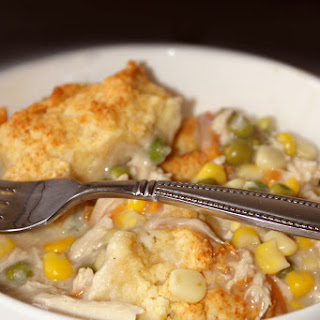 Skillet Chicken Pot Pie With Biscuit Crust