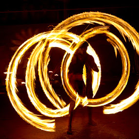 The Fire Circles by Arnab Sarkar - People Street & Candids ( performer, marshal art, kalari, india, kerala, travel, stunt, fire )