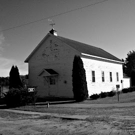 Church of Milton by Kasha Newsom - Buildings & Architecture Places of Worship ( countryside, wisconsin, countryliving, black and white, churches, buildings, worship )