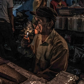 smoking is not crime by Waluya Aljiun - People Portraits of Men
