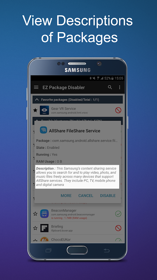 EZ Package Disabler (Samsung) Screenshot 2