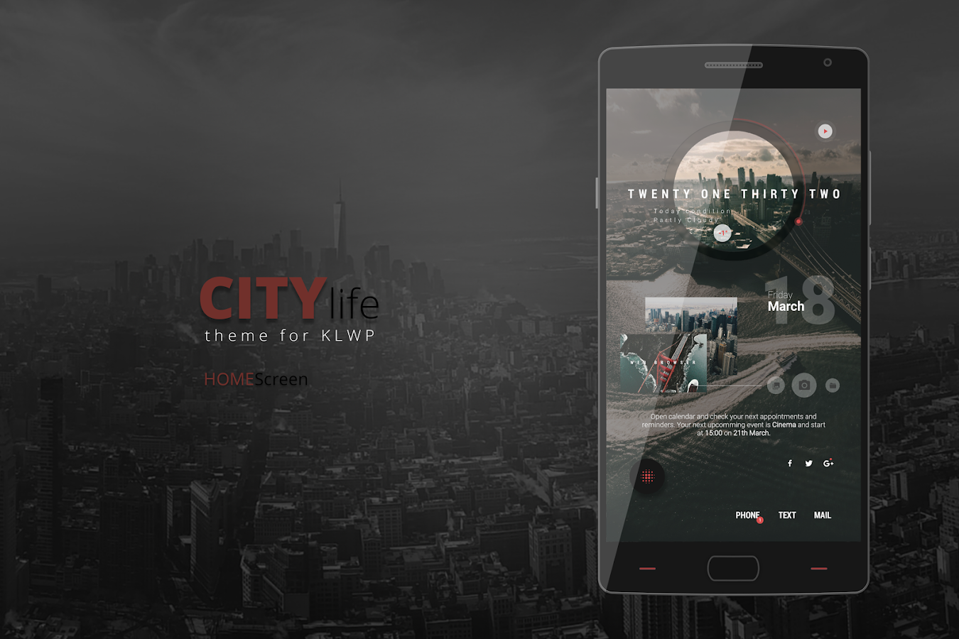 City Life Theme for KLWP Screenshot 0