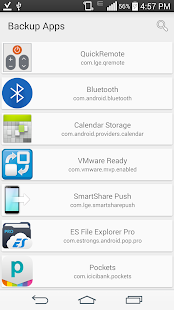 Backup System/Downloaded Apps - screenshot