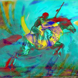 Cherokee People by Vince Scaglione - Digital Art People ( american indian, tribe, cherokee, nation, native american )