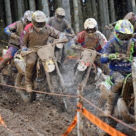 Motocross 9 by Marco Bertamé - Sports & Fitness Motorsports ( chaos, bike, rainy, motocross, sludge, weather, jam, competition )