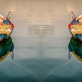 Convergence by George Petropoulos - Digital Art Things ( concept, fishingboat, peaceful, greece )