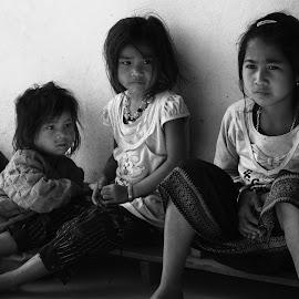 Laotian Children by William Allinson - People Street & Candids ( laos, children, laotian,  )