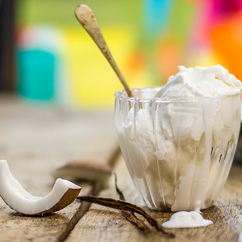Coconut and Vanilla Ice-cream
