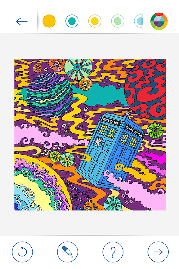 BBC Colouring: Doctor Who Screenshot 1