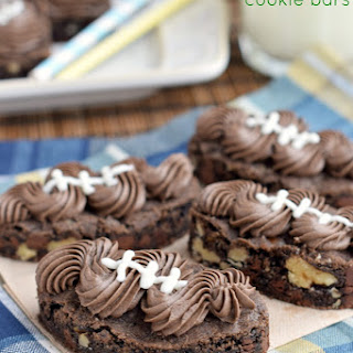 Frosted Chocolate Nut Cookie Bars