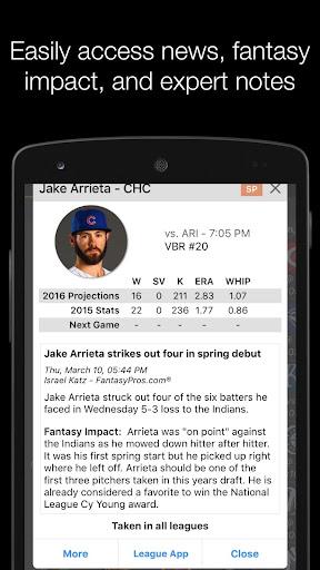 FantasyPros Fantasy Baseball - screenshot