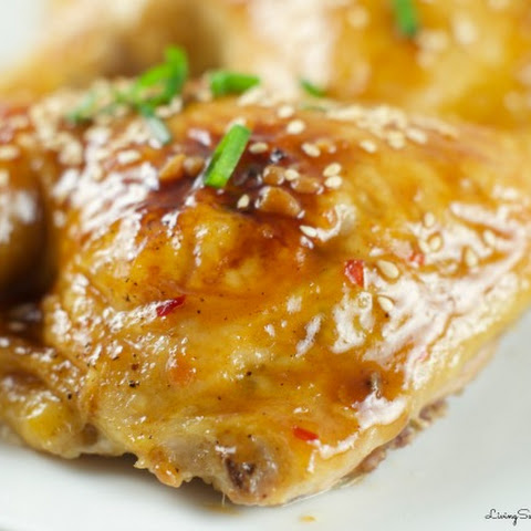 Chicken with Orange Plum Sauce