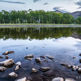 Reflection by Batzorig Ulziibayar - Landscapes Travel ( terelj, mongolia, river )