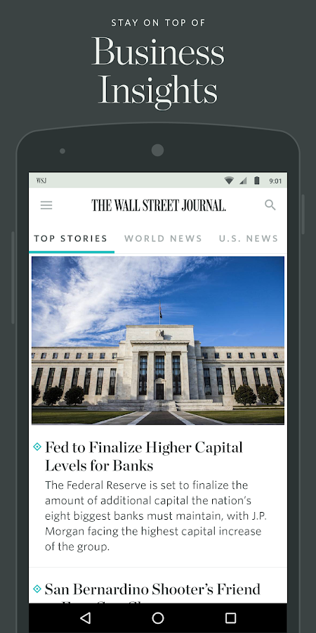 The Wall Street Journal: News Screenshot