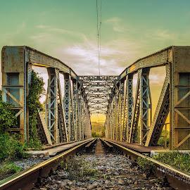 Come with me by Codreț A. Cătălin - Buildings & Architecture Bridges & Suspended Structures ( old, hdr, sunset, architecture, bridge )