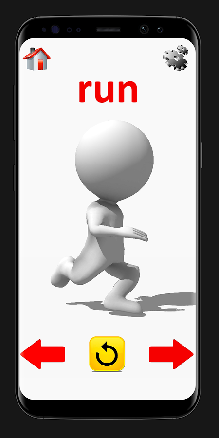 Aktionswörter: 3D animierte Flashkarten android apps download