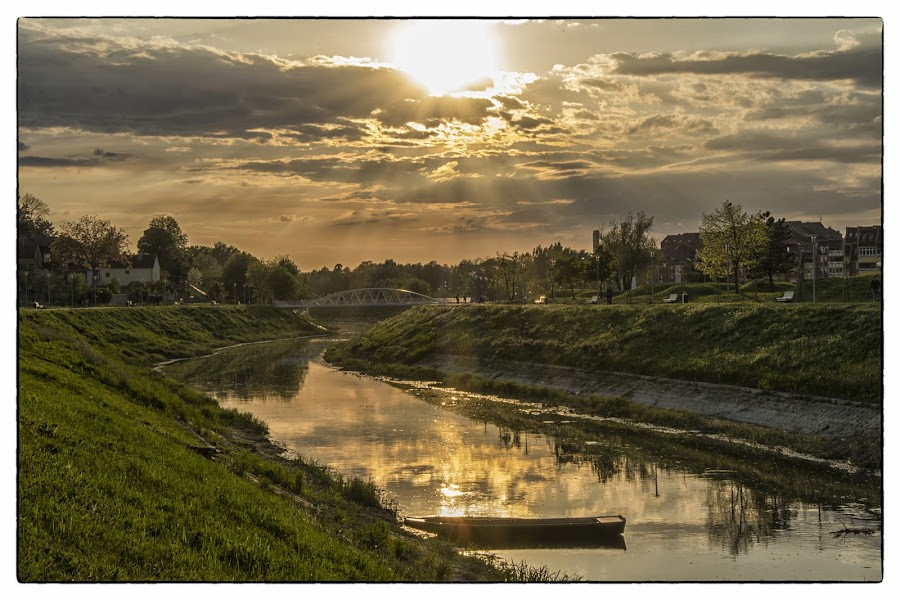 Sunset at river by Vanja Vidaković - Landscapes Sunsets & Sunrises (  )