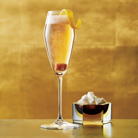10 best champagne cocktails with fruit recipes yummly for Champagne drinks with fruit