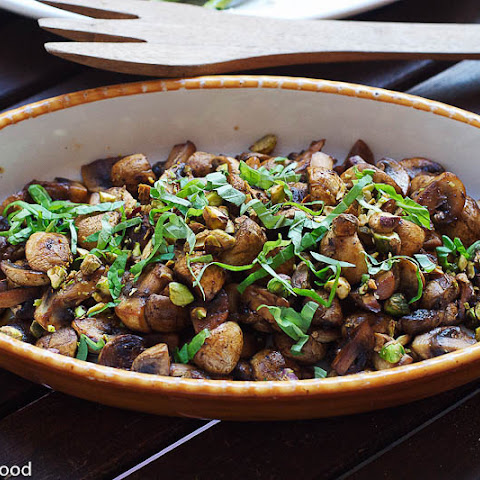 Sautéed Mushrooms with Pistachios & Basil