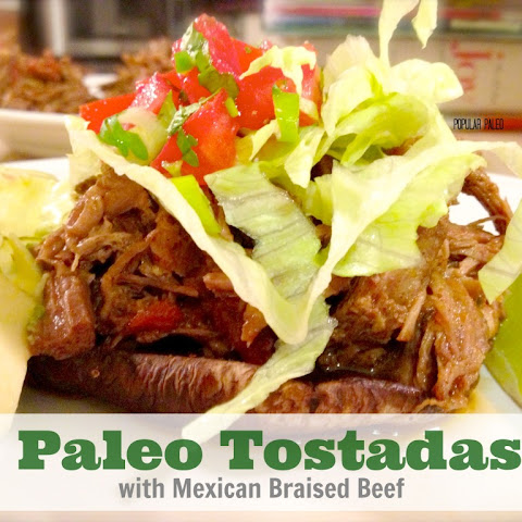 Paleo Tostadas with Mexican Braised Beef