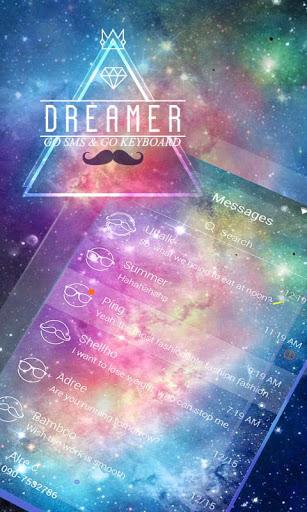 (FREE)GO SMS PRO DREAMER THEME Screenshot