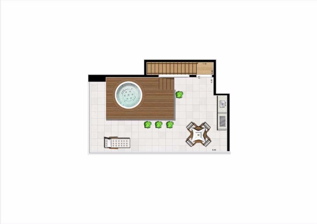 Planta Cobertura  Duplex Superior - 125 m²