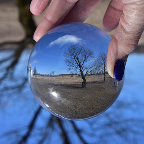 My Crystal Ball  by Debbie Johnson MacArthur - Artistic Objects Other Objects