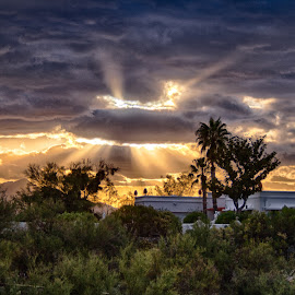 Glow by Charlie Alolkoy - Landscapes Weather ( clouds, glow, rays, curpuscular )