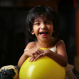 Smile by Subhasis Mukherjee - Babies & Children Child Portraits ( play, toddler, kid, baby, girl, portrait, child, smile )