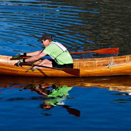 OLD SCHOOL CANOE  by David Dise - Transportation Boats