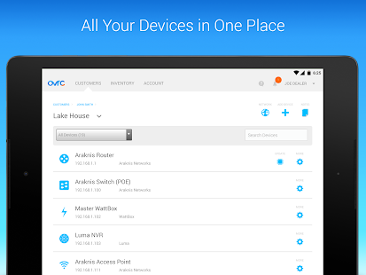 OvrC for tablets - screenshot