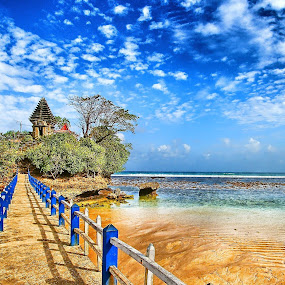 Temple on the beach by Sigit Setiawan - Landscapes Beaches ( temple, malang, indonesia, sunny day, beach )