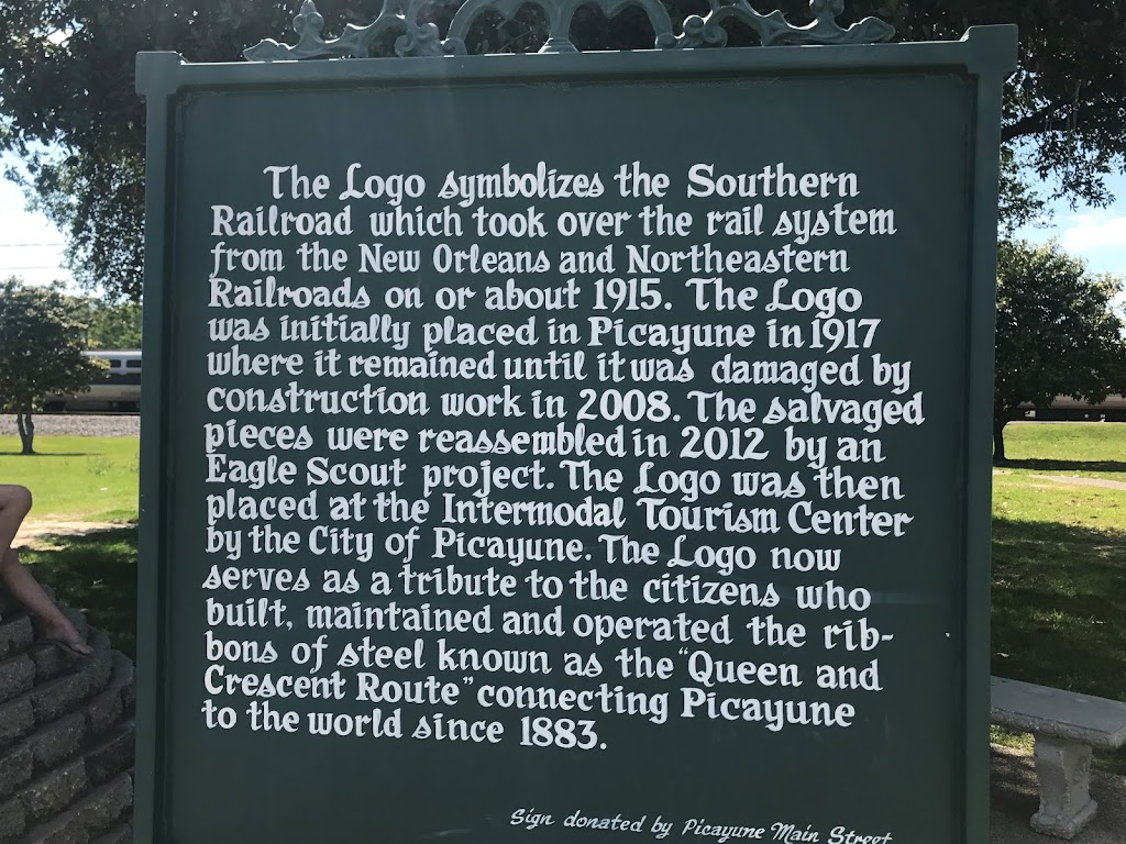 The Logo symbolizes the Southern Railroad which took over the rail system from New Orleans and Northeastern Railroads on or about 1915. The Logo was initially placed in Picayune in 1917 where it ...