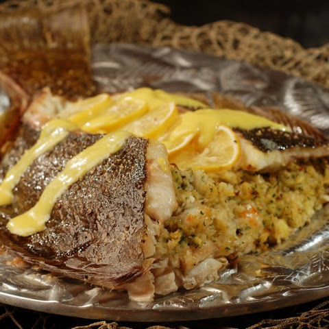 Whole Flounder Stuffed with Crab and Shrimp (#Fish Friday Foodies)
