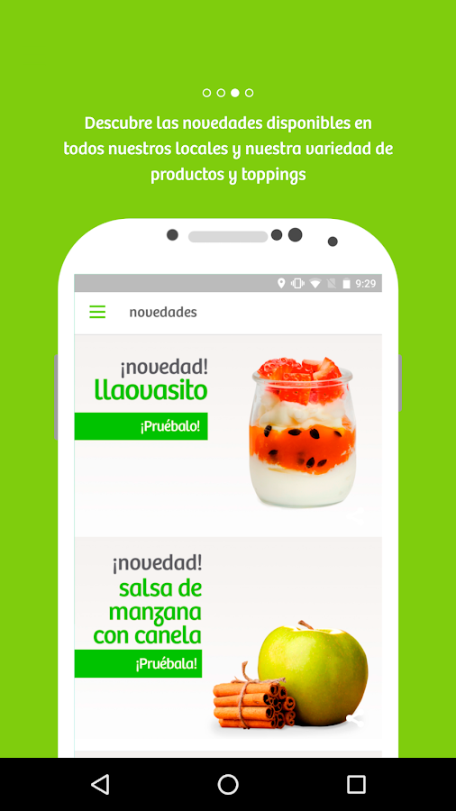 llaollao. Screenshot 2