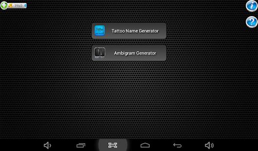 App tattoo name design generator apk for windows phone for Tattoo shop name generator