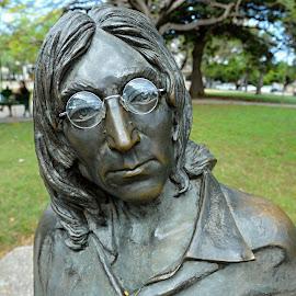 John Lennon. by Marcel Cintalan - Buildings & Architecture Statues & Monuments ( statue, park, beatles, havana, john lennon, cuba )