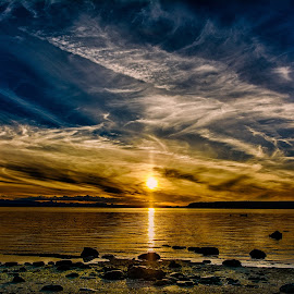 Savary Island Sunset Beach by Gary Dobbin - Landscapes Sunsets & Sunrises ( sky, sunset, dramatic, stunning, colors )