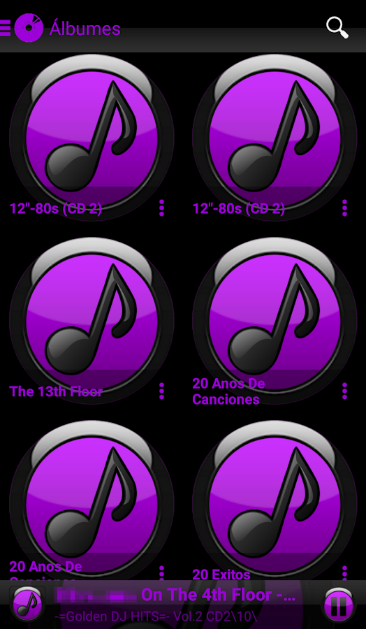 SKIN PLAYERPRO FUTURA PURPLE Screenshot 2