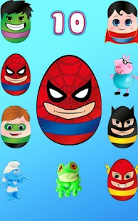 Surprise Eggs - Boys Superhero - screenshot