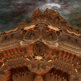 Federalis Mountain by Rick Eskridge - Illustration Sci Fi & Fantasy ( fantasy, jwildfire, mb3d, fractal, twisted brush )