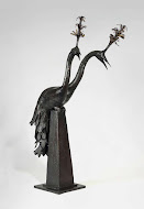 Peacock James Mortimer Bronze Sculpture