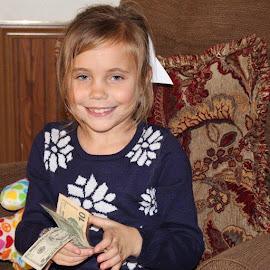 Money for Birthday  by Terry Linton - Babies & Children Children Candids