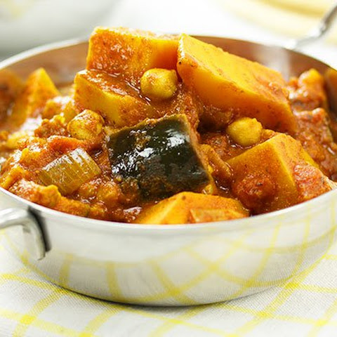 Pumpkin Eggplant & Chickpea Curry