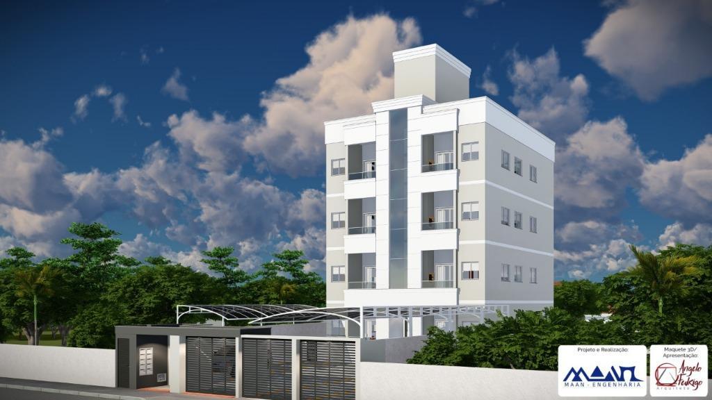 Apartamento com 2 dormitórios sendo uma suíte, garagem coberta, 62 m² por R$ 179.9000 - Centro - Tijucas/SC