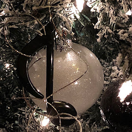 Christmas Tree Elegance at the Davenport 2017 by Carrie Cadenas - Public Holidays Christmas ( christmas tree ornament davenport spokane wa musical note )